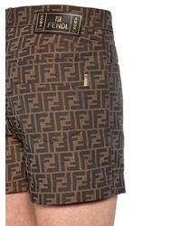 Fendi - Multicolor Shorts De Mezcla De Algodón Con Logo for Men - Lyst