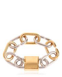 Alexander Wang - Metallic Broken Link Lock Bracelet - Lyst