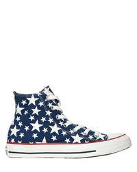 "Converse - Blue Sneakers ""chuck Taylor Hi Ox Stars"" In Tela - Lyst"