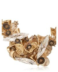 Heaven Tanudiredja - Metallic Embroidered Chain Sculpture Necklace - Lyst