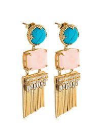 Iosselliani - Multicolor Fringed Earrings - Lyst