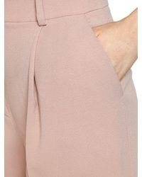 Emporio Armani - Pink Stretch Wool Blend Pants - Lyst
