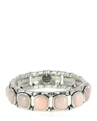 Philippe Audibert - Pink Lakota Rose Agate Stretch Bracelet - Lyst