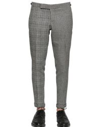 Thom Browne - Gray Houndstooth & Prince Of Wales Wool Pants for Men - Lyst