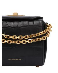 Alexander McQueen - Black Box 16 Croc Embossed Leather Bag - Lyst