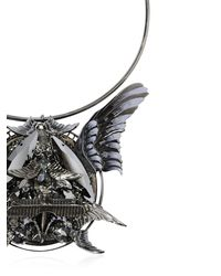 Heaven Tanudiredja - Black Round Wings Medallion - Lyst