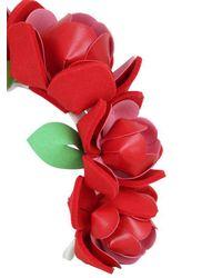 Francesco Ballestrazzi - Red Roses Headband - Lyst