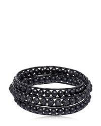 Colana - Black Onyx & Lava Beads Triple Wrap Bracelet - Lyst