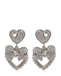Dolce & Gabbana - Metallic Heart & Bow Clip-on Earrings - Lyst