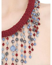 Sharra Pagano - Multicolor Beaded Fringe Necklace For Lvr - Lyst