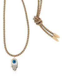 Luis Morais - Natural Gold Enameled Hamsa Necklace - Lyst