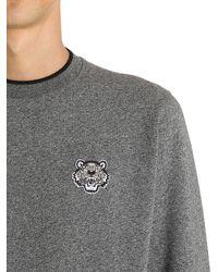 KENZO - Gray Tiger Detail Cotton Sweatshirt for Men - Lyst