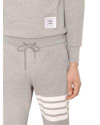 Thom Browne - Gray Back Zip Cotton Sweat Jumpsuit for Men - Lyst