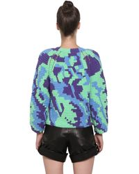 Helen Rodel - Green Hand Crocheted Cotton Sweater - Lyst