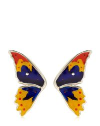 Cantini Mc Firenze - Blue Half Butterfly Earrings - Lyst