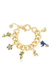 Casadei - Metallic Amazon Jungle Chain Bracelet W/ Charms - Lyst