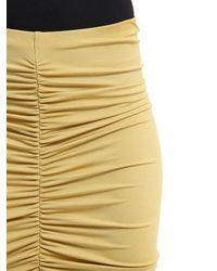 Max Mara | Yellow Caliga Draped Viscose Jersey Midi Skirt | Lyst