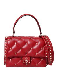 Valentino Red Candy Leather Top Handle Bag