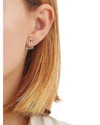 Gucci - Metallic Running G Mono Jacket Earring - Lyst