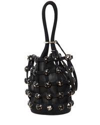 Alexander Wang - Black Mini Roxy Denim Cage Bucket Bag - Lyst