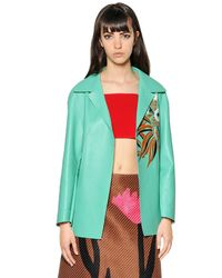 Marni - Green Double Face Nappa Leather Jacket - Lyst