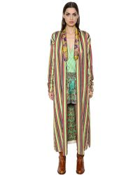 Etro - Multicolor Anise Cotton & Silk Blend Robe Jacket - Lyst
