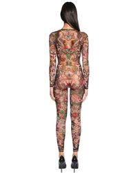 DSquared² - Multicolor Body Lungo In Tulle Stampa Aloha - Lyst