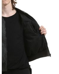 Yeezy - Black Washed Cotton Canvas Bomber for Men - Lyst