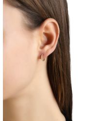 Apm Monaco - Metallic Gold Mini Hoop Earrings - Lyst