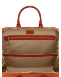Ohba | Brown Slim Overnight Leather Briefcase for Men | Lyst