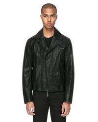 Mackage - Black Roan Moto Leather Jacket With Sheepskin Collar for Men - Lyst