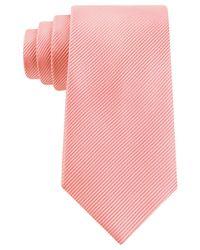Geoffrey Beene - Pink Bias Stripe Solid Tie for Men - Lyst