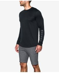 Under Armour - Black Men's Sportstyle Charged Cotton® Long-sleeve T-shirt for Men - Lyst