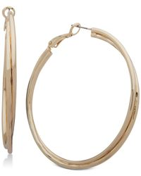 Nine West - Metallic Double-row Twist Hoop Earrings - Lyst