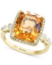 Effy Collection - Metallic Citrine (7 Ct. T.w.) & Diamond (1/3 Ct. T.w.) Ring In 14k Gold - Lyst