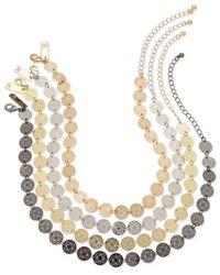 INC International Concepts - Metallic Multi-tone 4-pc. Set Beaded Choker Necklaces - Lyst