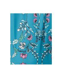 Maison Jules - Blue Cold-shoulder Peplum Dress - Lyst