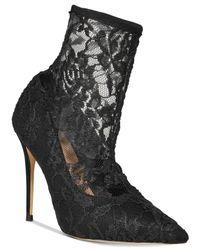 ALDO - Black Halle Lace Sock Pumps - Lyst