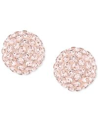Swarovski - Pink Rose-gold-plated Crystal Stud Earrings - Lyst