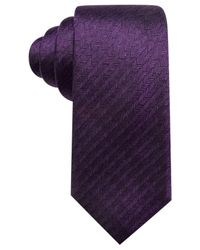 Alfani - Purple Men's Bennington Stripe Slim Tie for Men - Lyst