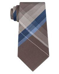 Kenneth Cole Reaction - Blue Men's Open Ground Plaid Silk Tie for Men - Lyst