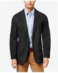 Tommy Hilfiger - Black Men's Slim-fit Solid Knit Sport Coat for Men - Lyst