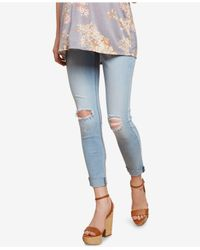 Jessica Simpson - Blue Maternity Cropped Skinny Jeans - Lyst