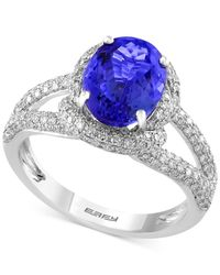 Effy Collection - Multicolor Effy Final Call Tanzanite (2-5/8 Ct. T.w.) And Diamond (3/4 Ct. T.w.) Ring In 14k White Gold - Lyst