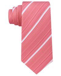 Kenneth Cole Reaction | Orange Men's Linear Stripe Tie for Men | Lyst