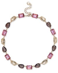 Charter Club - Metallic Gold-tone Multi-stone All-around Collar Necklace - Lyst