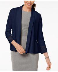 Karen Scott - Blue Shawl-collar Cardigan, Created For Macy's - Lyst