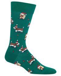 Hot Sox - Green Men's Doggie Socks for Men - Lyst