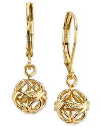 2028 | Metallic Gold-tone Eurowire Drop Earrings, A Macy's Exclusive Style | Lyst