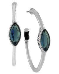 The Sak | Earrings, Silver-tone Blue Stone Hoop Earrings | Lyst
